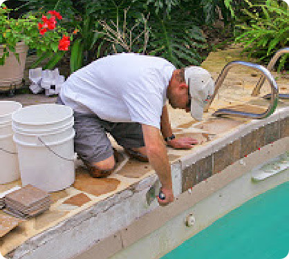 Pool Tile Repair
